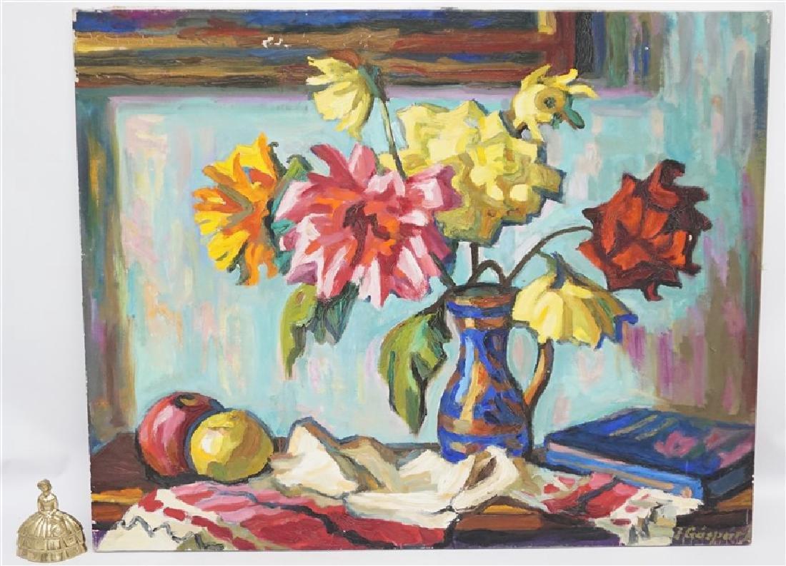 GASPAR ANNI FELEKINE (1902-1992) OIL STILL LIFE - 9
