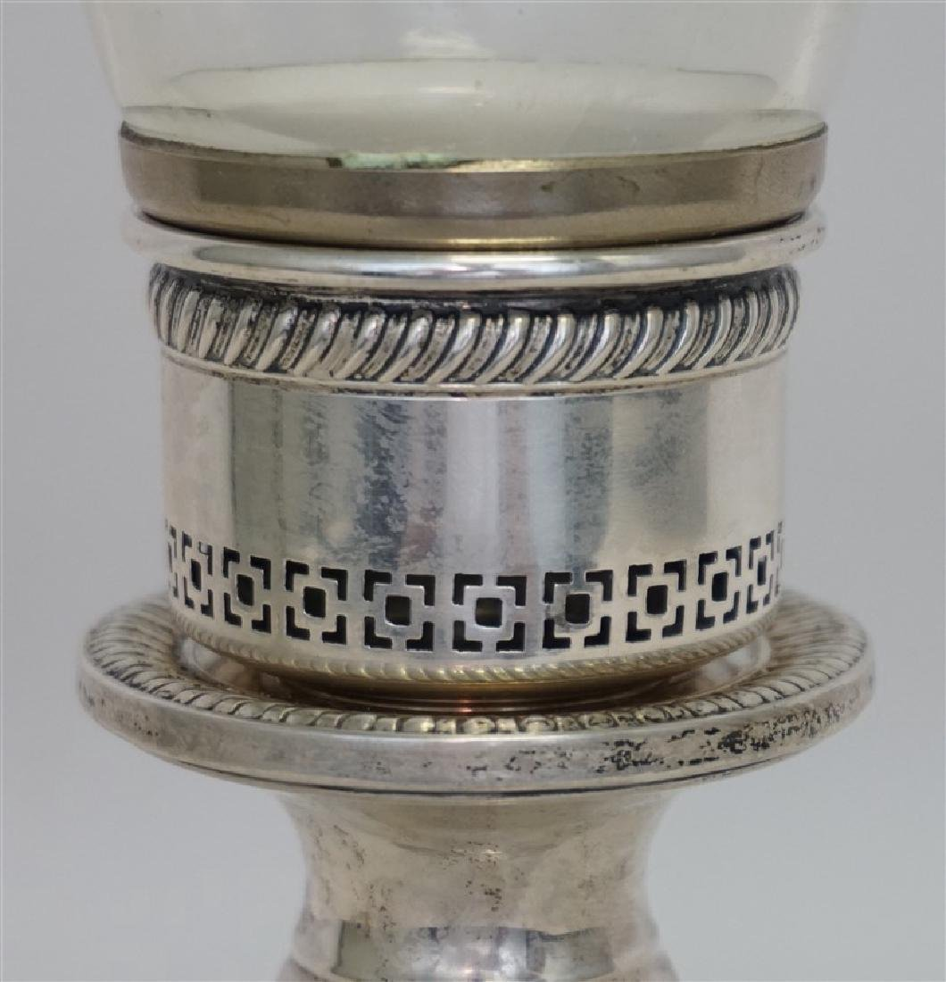STERLING SILVER HURRICANE LAMP - 4
