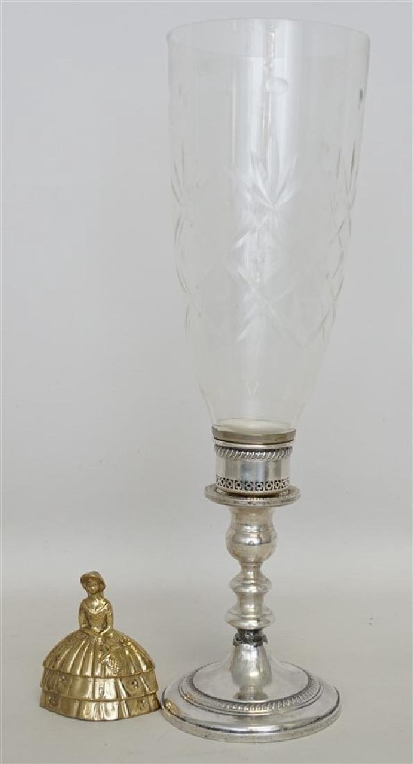 STERLING SILVER HURRICANE LAMP - 5