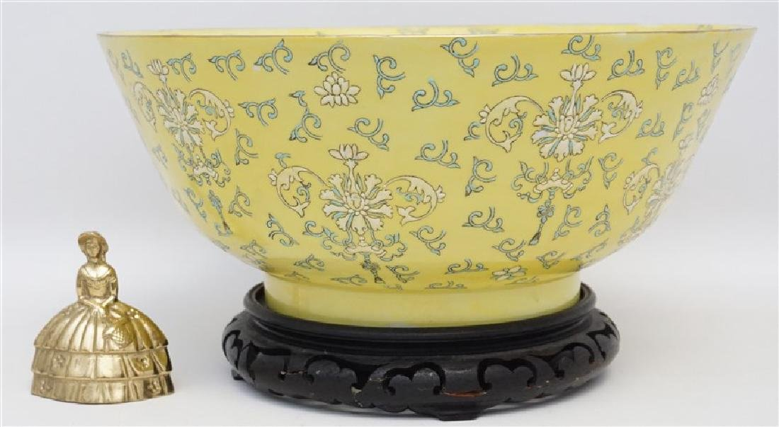 LARGE CHINESE EXPORT PUNCH BOWL - 10