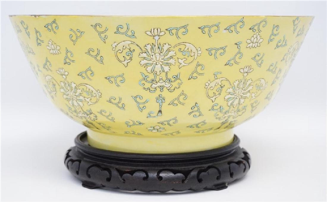 LARGE CHINESE EXPORT PUNCH BOWL