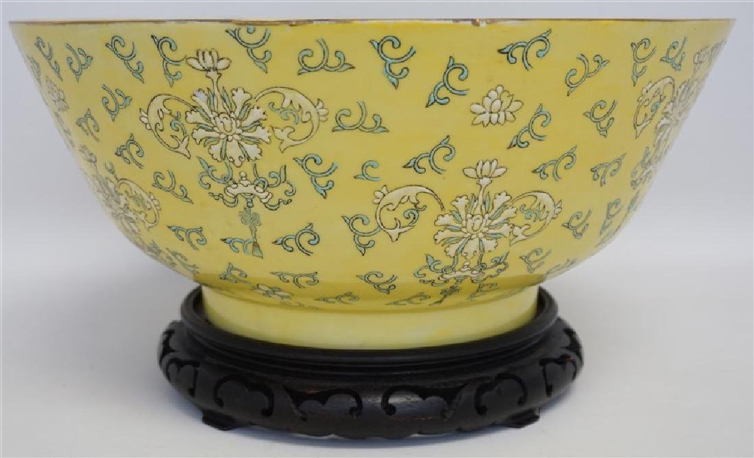 LARGE CHINESE EXPORT PUNCH BOWL - 4