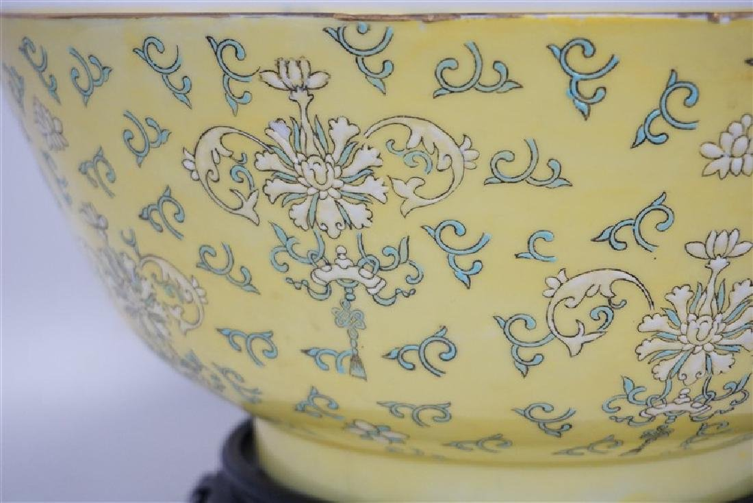 LARGE CHINESE EXPORT PUNCH BOWL - 5