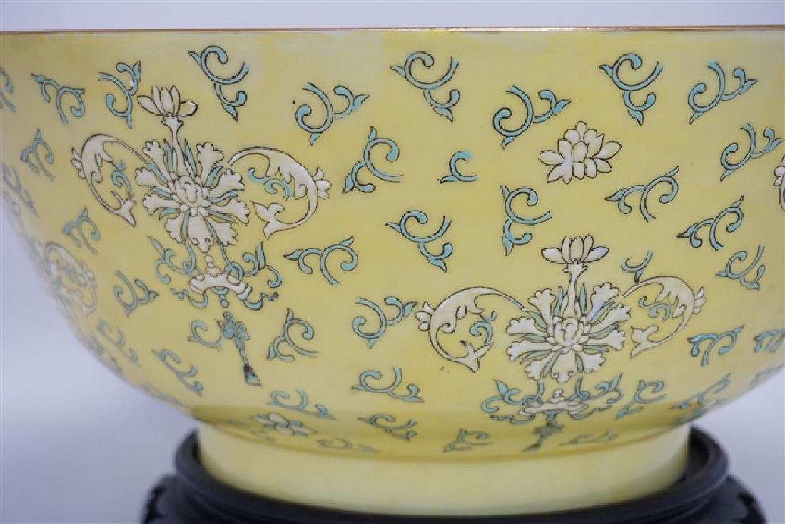 LARGE CHINESE EXPORT PUNCH BOWL - 6