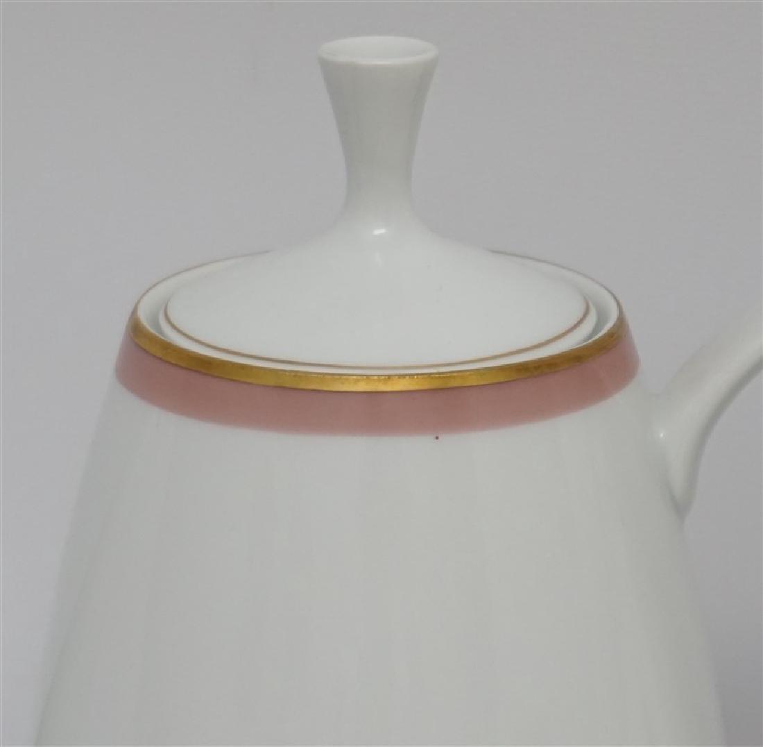 3 pc GERMAN PORCELAIN COFFEE POTS & PLATE - 2