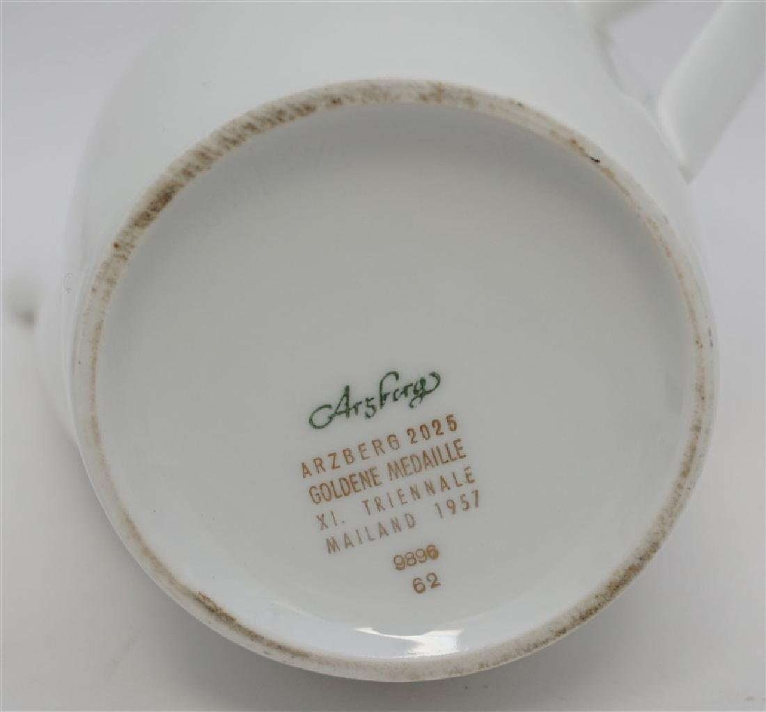 3 pc GERMAN PORCELAIN COFFEE POTS & PLATE - 6