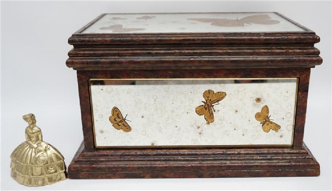 MIRRORED REVERSE GOLD BUTTERFLY BOX - 10