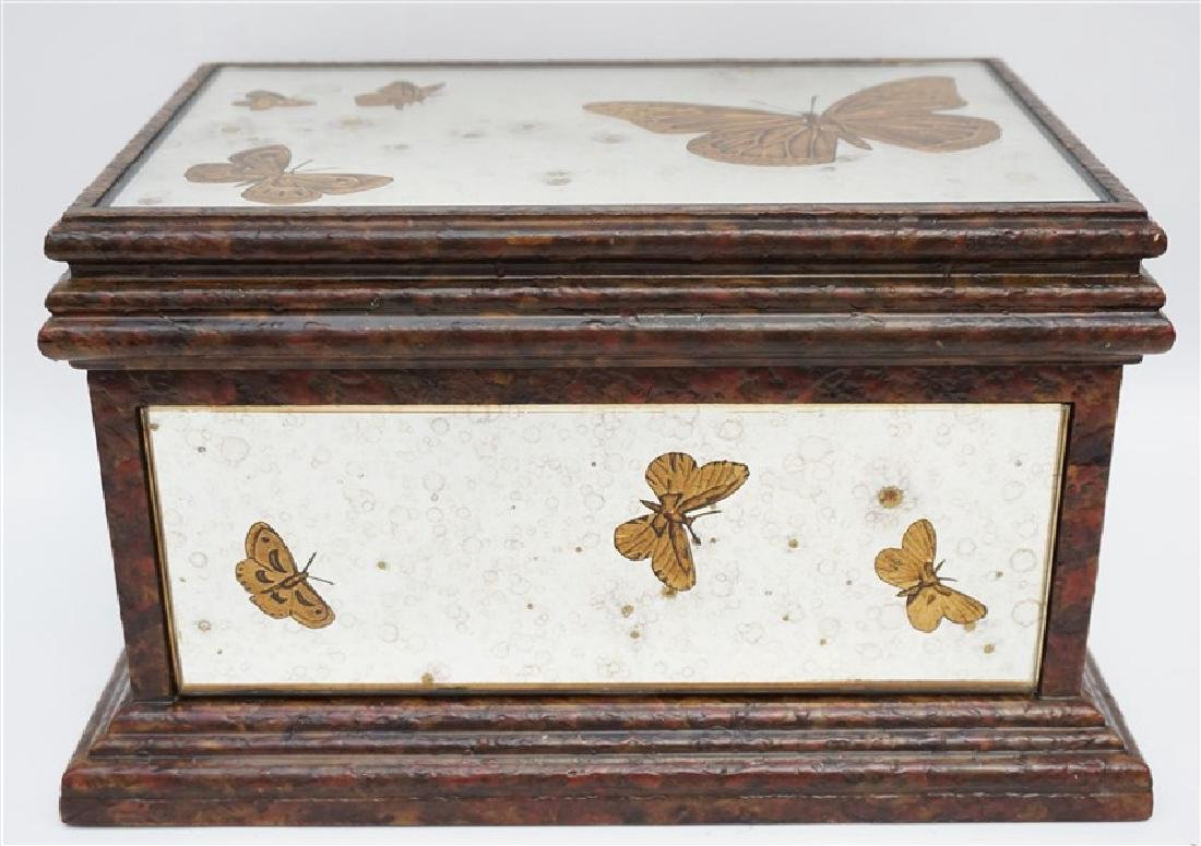 MIRRORED REVERSE GOLD BUTTERFLY BOX