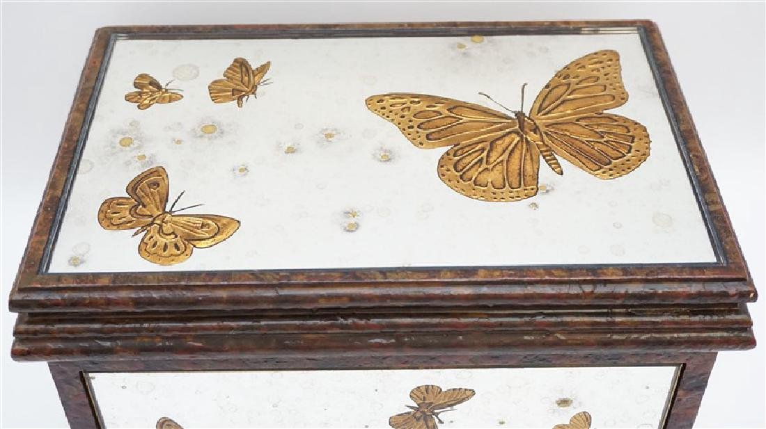 MIRRORED REVERSE GOLD BUTTERFLY BOX - 2