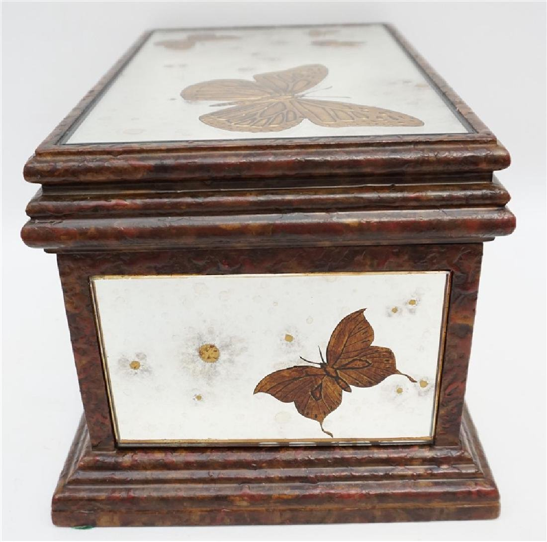 MIRRORED REVERSE GOLD BUTTERFLY BOX - 7