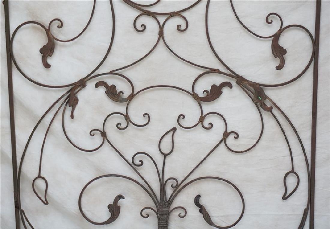 CAST IRON SCROLL GARDEN GATE - 2
