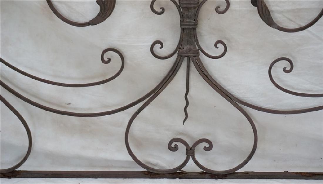 CAST IRON SCROLL GARDEN GATE - 4