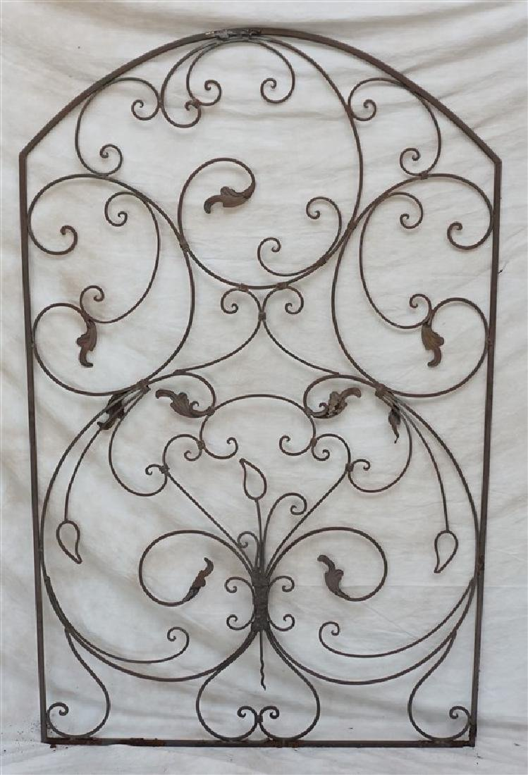 CAST IRON SCROLL GARDEN GATE - 7