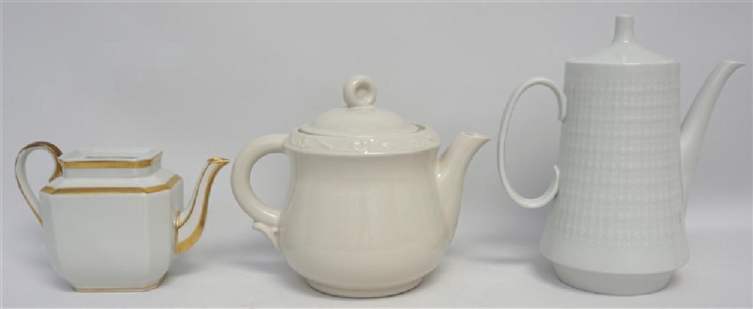 3 pc PORCELAIN TEA AND COFFEE POTS - 2