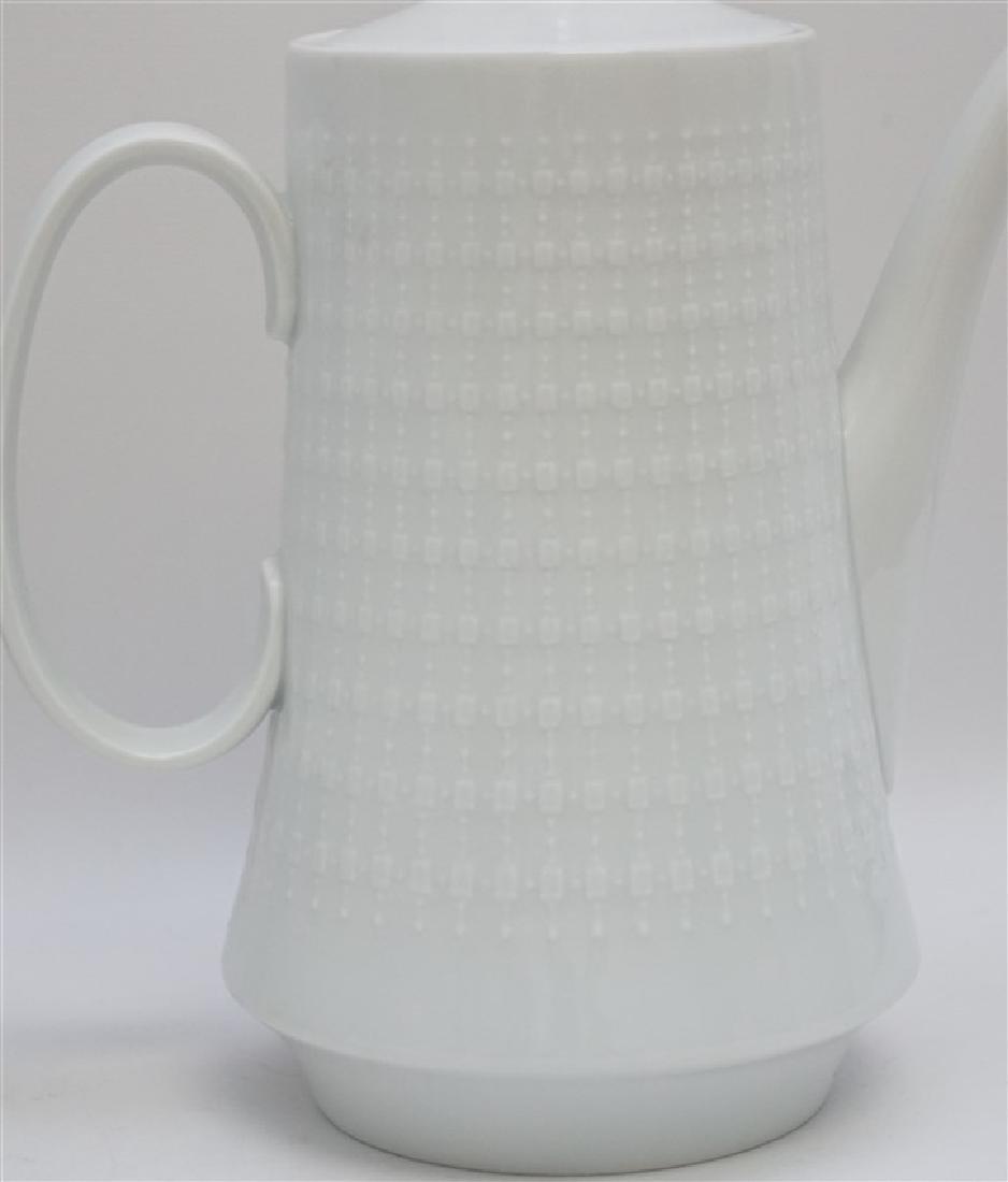 3 pc PORCELAIN TEA AND COFFEE POTS - 3