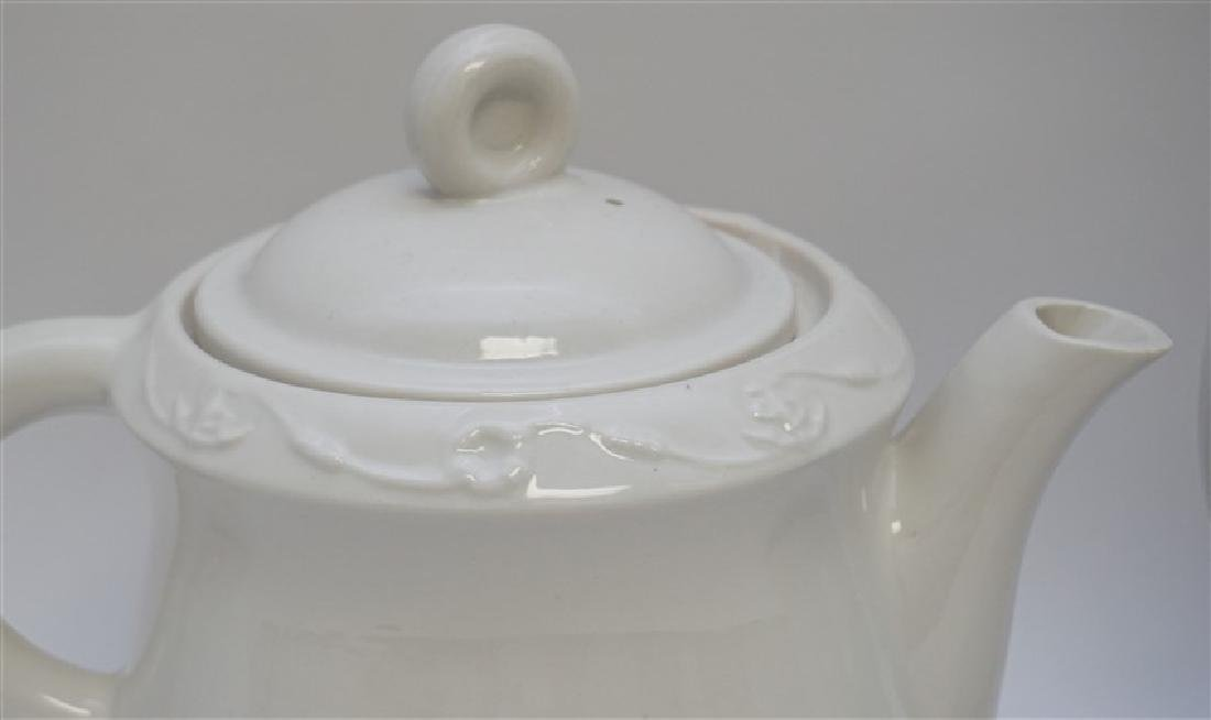 3 pc PORCELAIN TEA AND COFFEE POTS - 4