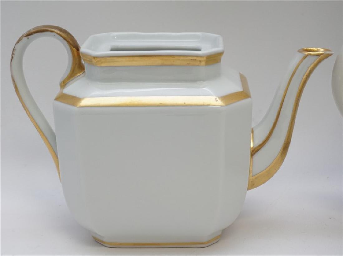 3 pc PORCELAIN TEA AND COFFEE POTS - 5