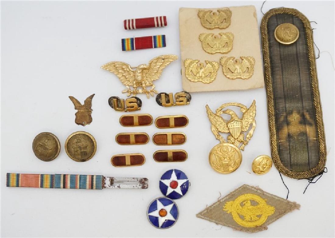 25 pc CIVIL WAR - WWI -WWII MILITARIA COLLECTIBLES