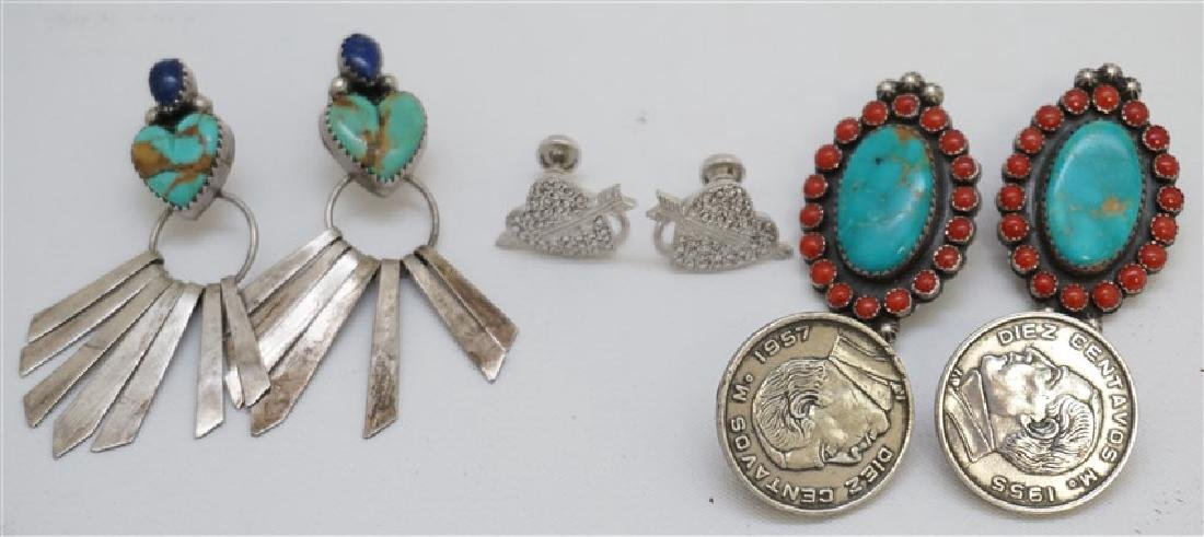 5 PC STERLING NATIVE AMERICAN - TURQUOISE +