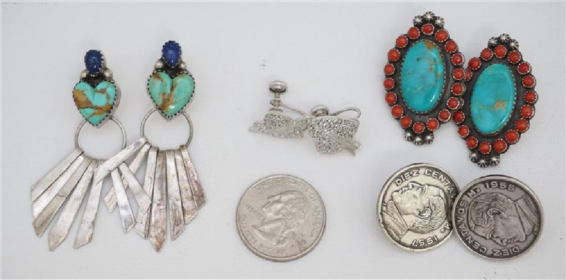 5 PC STERLING NATIVE AMERICAN - TURQUOISE + - 7