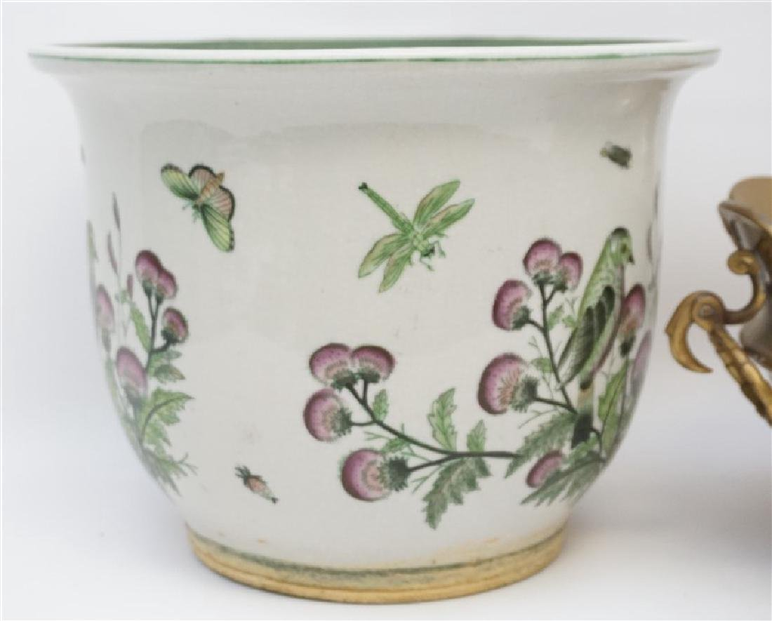 MOTTAHEDEH BRASS BOWL WITH PLANTER - 3
