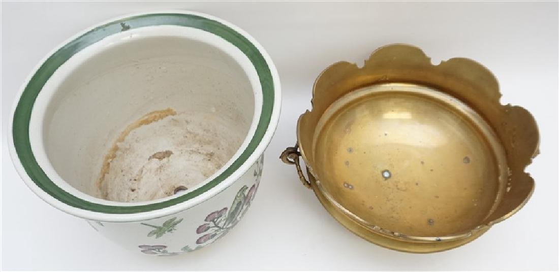 MOTTAHEDEH BRASS BOWL WITH PLANTER - 6