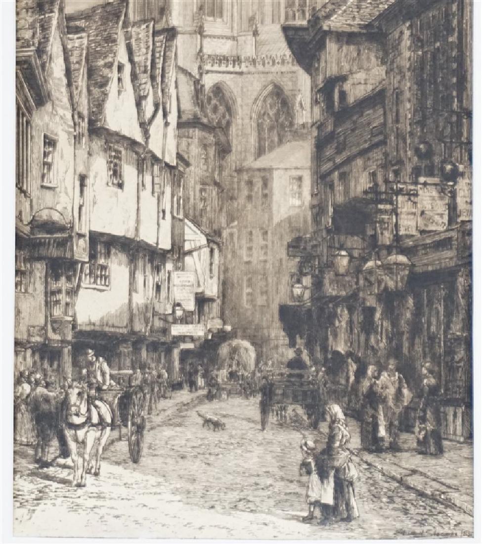 PAIR EDWARD SLOCOMBE (1850-1925) ETCHINGS - 3