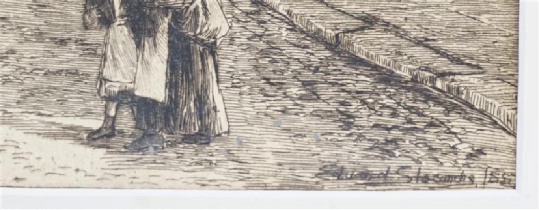 PAIR EDWARD SLOCOMBE (1850-1925) ETCHINGS - 4