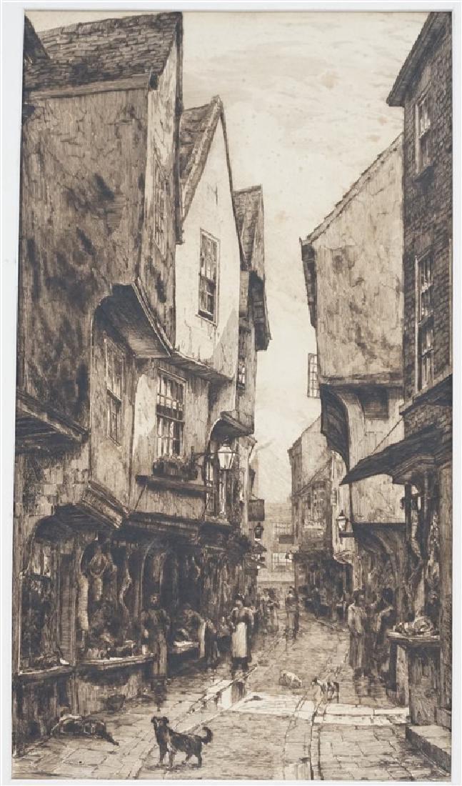 PAIR EDWARD SLOCOMBE (1850-1925) ETCHINGS - 5
