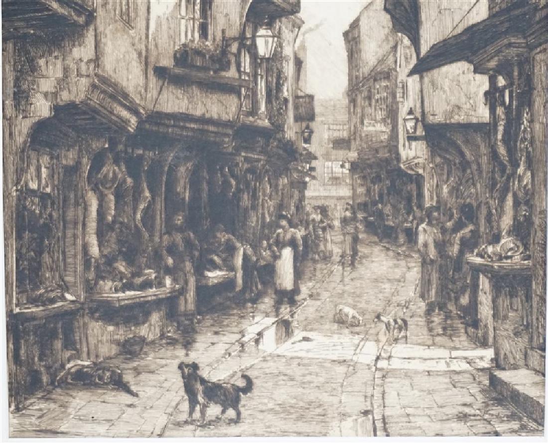 PAIR EDWARD SLOCOMBE (1850-1925) ETCHINGS - 6