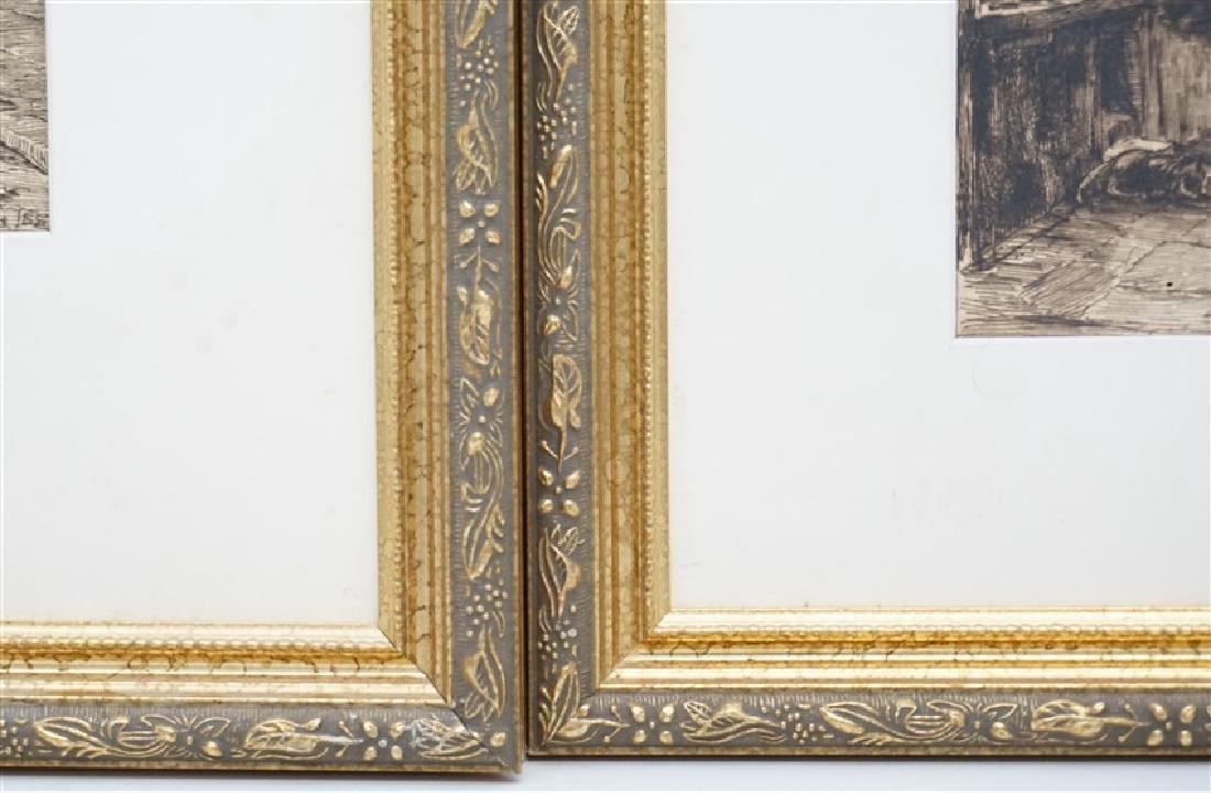 PAIR EDWARD SLOCOMBE (1850-1925) ETCHINGS - 7