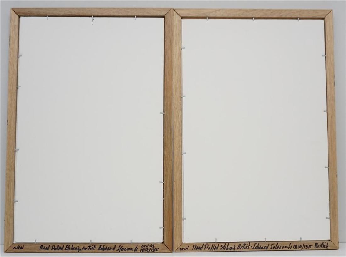 PAIR EDWARD SLOCOMBE (1850-1925) ETCHINGS - 9