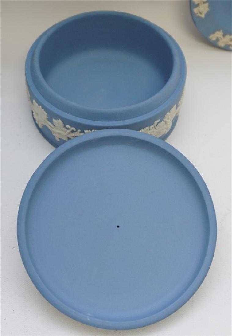 3 pc WEDGWOOD BLUE JASPERWARE - 8
