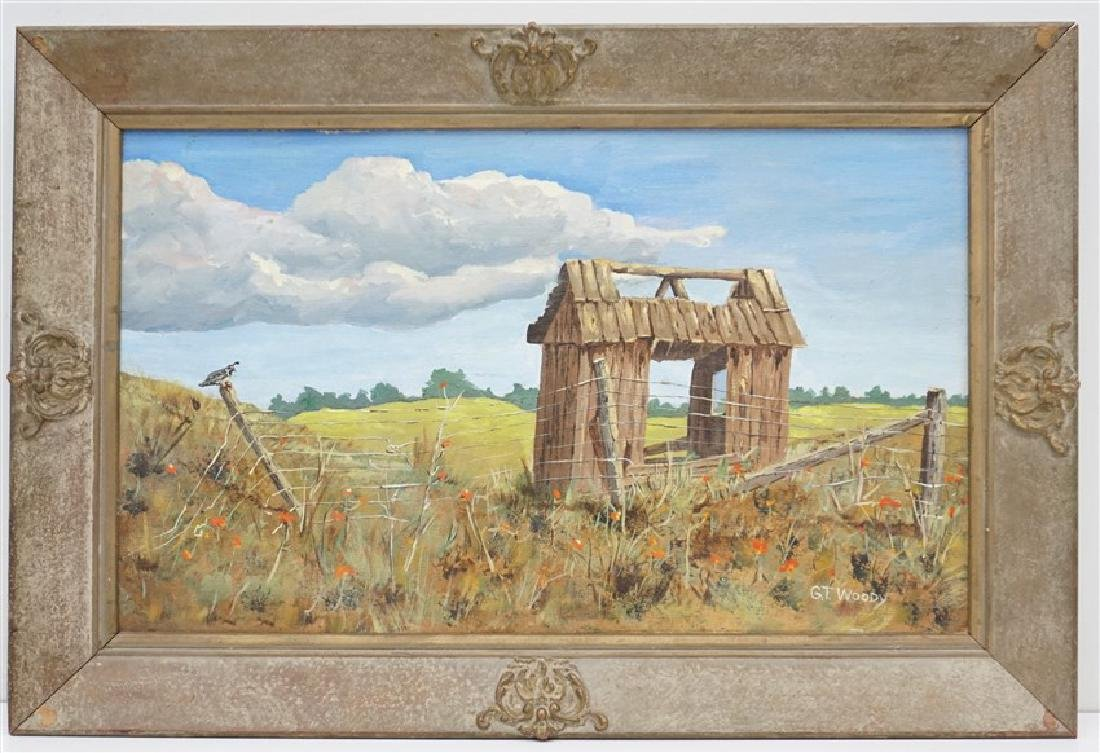 GORMAN WOODY (1907-2000) MONTEREY FARM