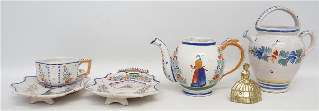 5 PC QUIMPER FRENCH FAIENCE - 11