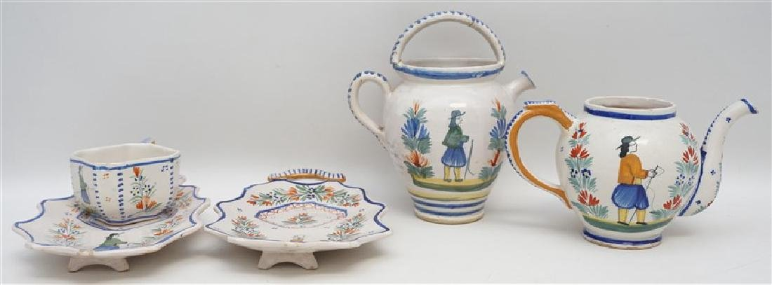 5 PC QUIMPER FRENCH FAIENCE
