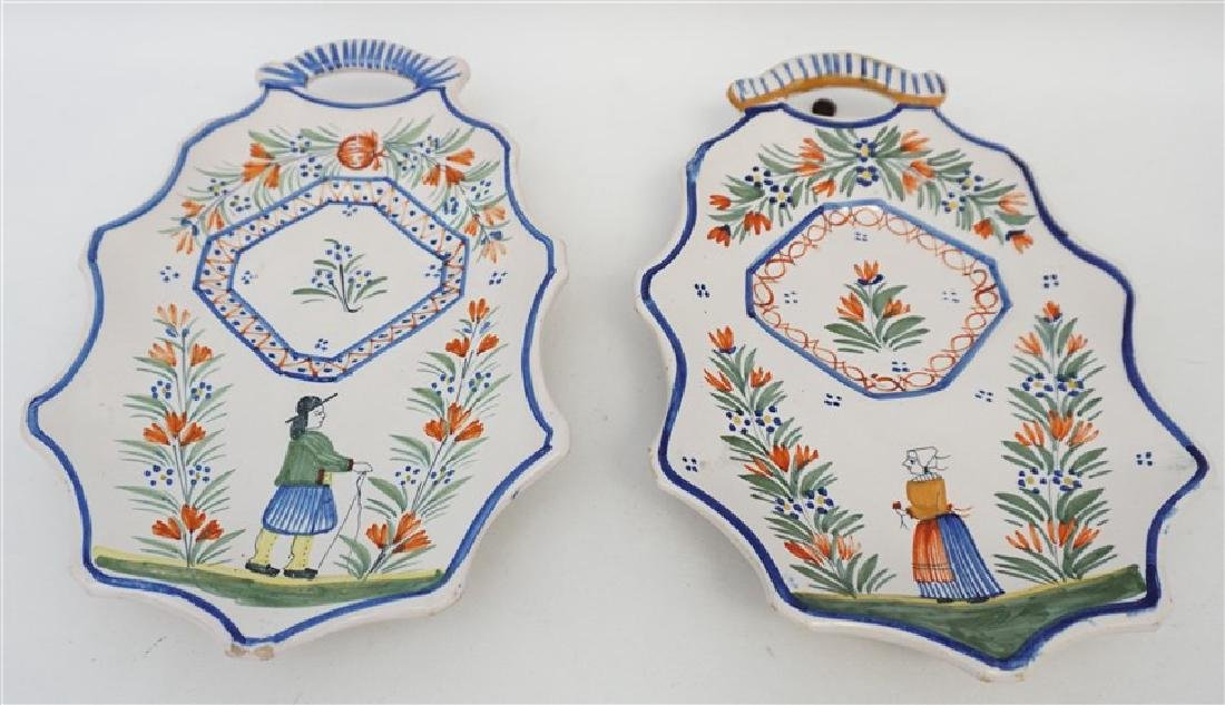 5 PC QUIMPER FRENCH FAIENCE - 5