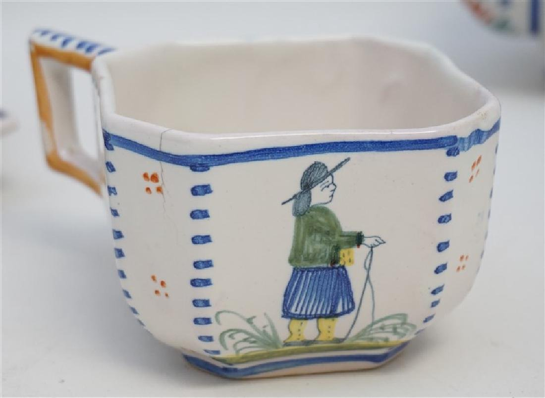 5 PC QUIMPER FRENCH FAIENCE - 6