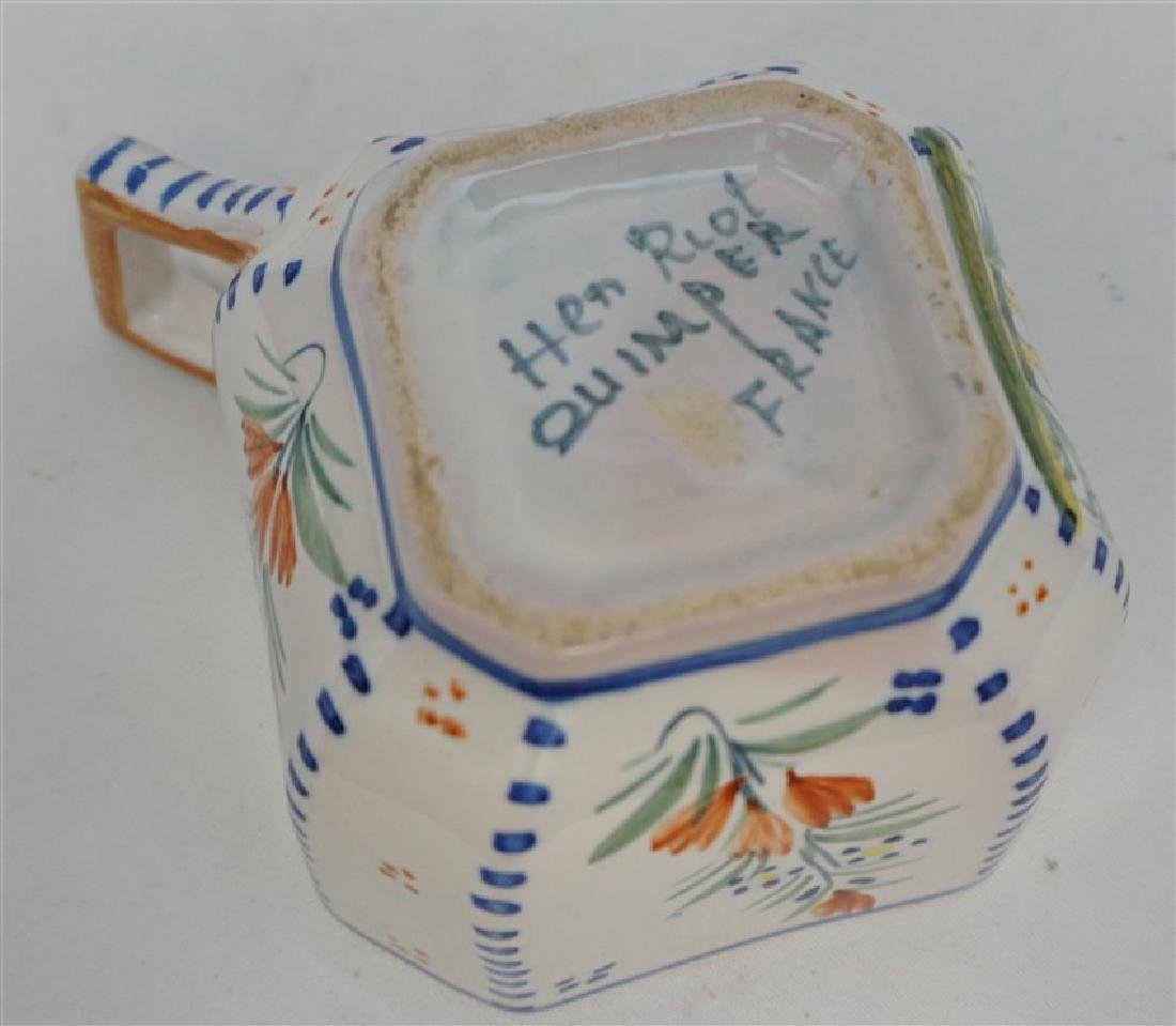5 PC QUIMPER FRENCH FAIENCE - 9