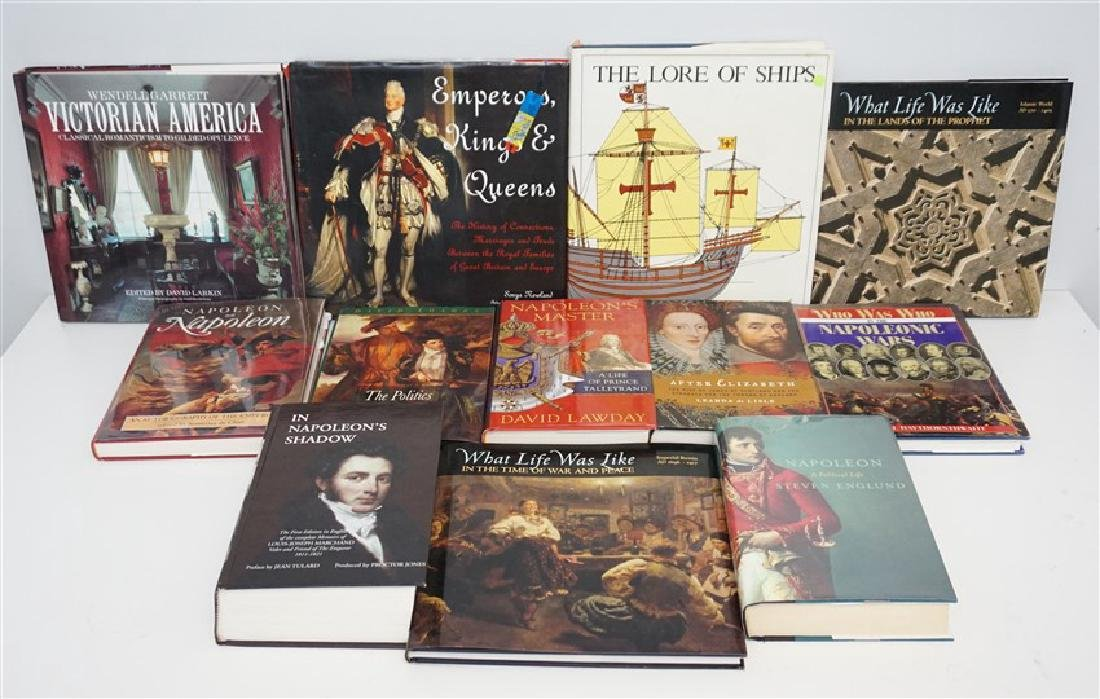 12 COLLECTIBLE BOOKS - NAPOLEON - ROYALTY