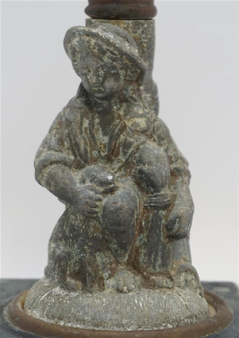 19th c. SHEPHERD BOY CANDLESTICK - 2