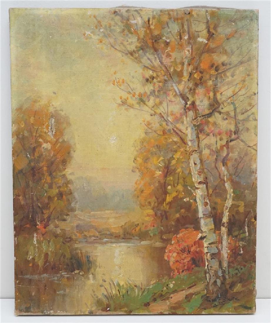 ORIGINAL GEORGE F. SCHULTZ (1869-1934) OIL