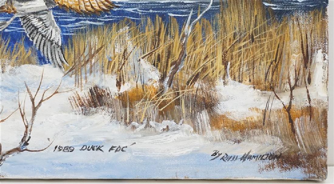 RUSS HAMILTON DUCK PAINTING 1989 - 2