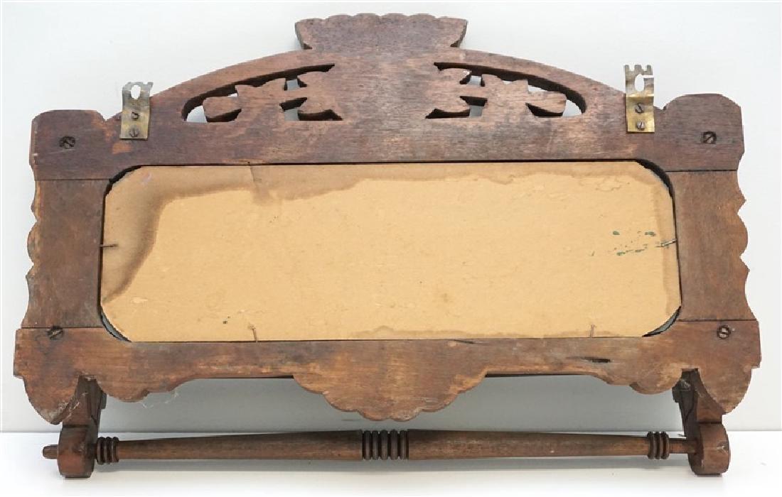 AMERICAN CARVED MIRROR TOWEL RACK - 4