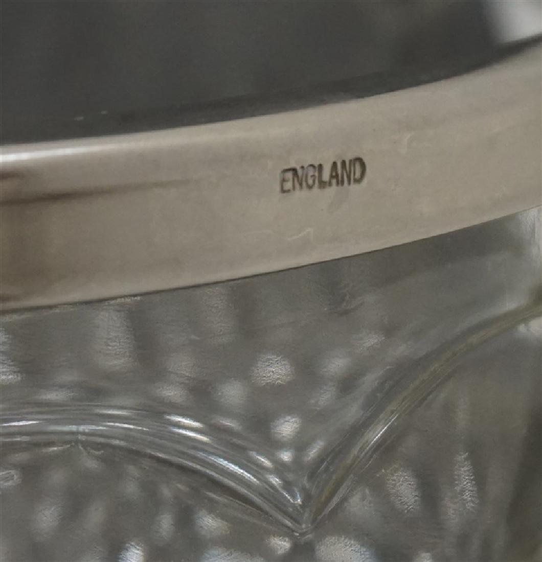 ENGLISH GLASS BOWL SILVERPLATE RIM - 3
