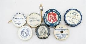 SEVEN ADVERTISING CELLULOID TAPE MEASURES