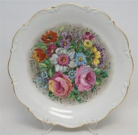 LARGE HUTSCHENREUTHER FLORAL CHARGER
