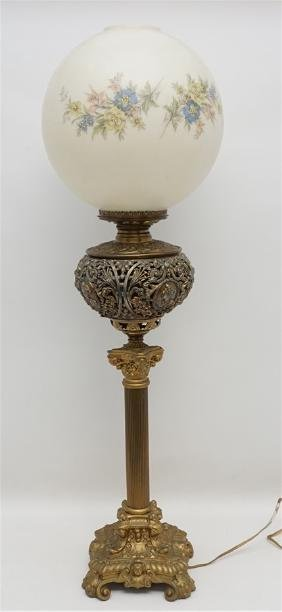LARGE VICTORIAN PITTSBURGH BANQUET LAMP