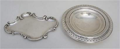 2 PC GORHAM STERLING CANDY & CALLING CARD