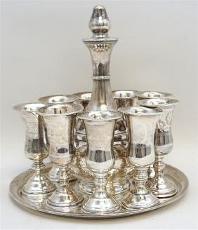 11 PC STERLING SILVER KIDDUSH SET